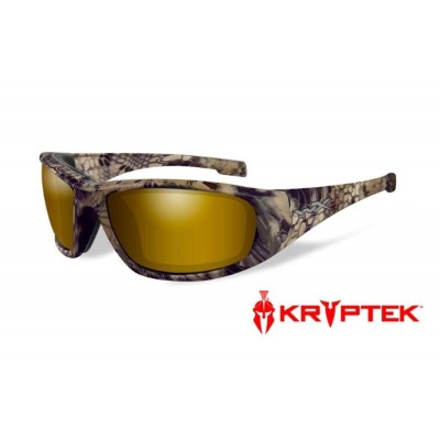 Wiley x Boss Pol Venice Gold Mirror lens Kryptek Highlander Frame